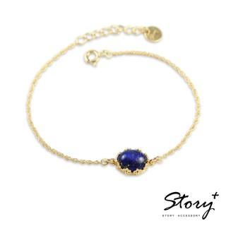 【STORY ACCESSORY】璽愛-天然寶石系列-絢爛 純銀手鍊(天然寶石 花邊 蕾絲 手鍊)
