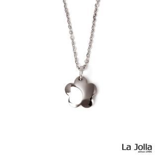 【La Jolla】桃花朵朵 純鈦墜項鍊(銀色)