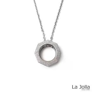 【La Jolla】百變幾何 純鈦墜項鍊(銀色)