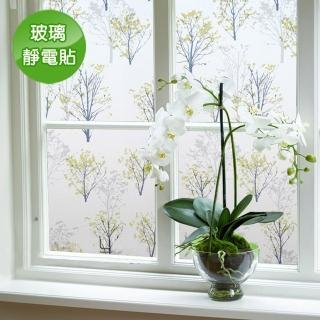 【Conalife】抵抗曝曬! PVC無膠靜電N次貼無殘留玻璃紙(買一送一)
