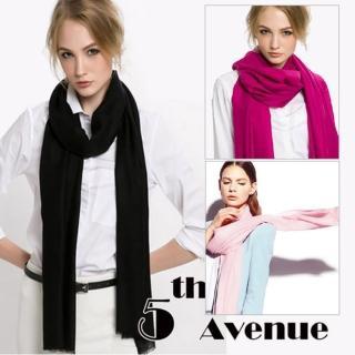 【5THAVE】歐風時尚100%小羔羊披肩/圍巾(多色任選)