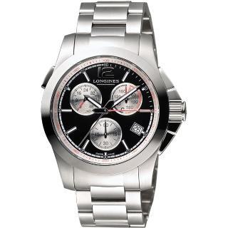 【LONGINES】ConquestJumping馬術障礙賽計時腕錶(L37014566)