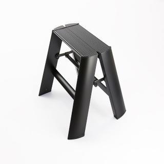【長谷川Hasegawa設計好梯Lucano設計傢俱梯】1階24cm黑色(ML系列ML-1BK)