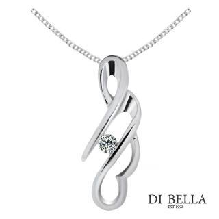 【DI BELLA】搖滾繆思天然鑽石墜鍊(3分)