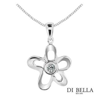 【DI BELLA】花漾星情天然鑽石墜鍊(3分)