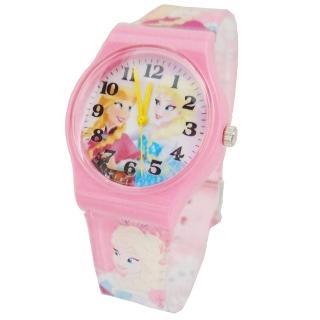 【迪士尼DISNEY】FROZEN冰雪奇緣艾莎&安娜兒童錶卡通錶(粉紅)