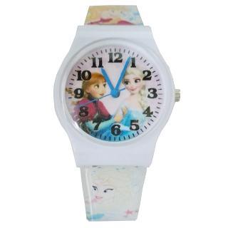 【迪士尼DISNEY】FROZEN冰雪奇緣艾莎&安娜兒童錶卡通錶(白)