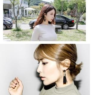 【梨花HaNA】韓國時髦世代三角流蘇耳環