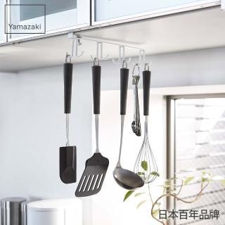 【YAMAZAKI】Plate層板廚具小物雙向掛勾(白)