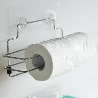 【樂活主義】新魔力霧面無痕貼系列-304不鏽鋼捲筒紙巾架(-搶購)