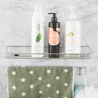 【樂活主義】新魔力霧面無痕貼系列-304不鏽鋼浴室毛巾置物架(-搶購)