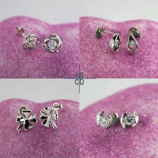 【xmono】925純銀耳環單顆美鑽經典款(3)  xmono
