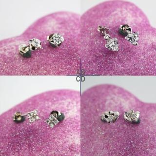 【xmono】925純銀耳環單顆美鑽經典款(2)  xmono