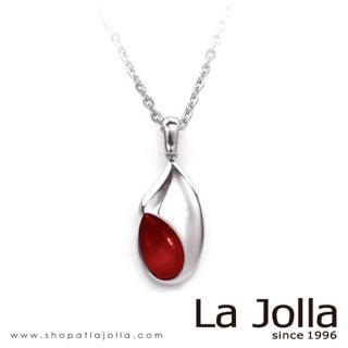 【La Jolla】懷抱 純鈦墜項鍊(紅珊瑚)