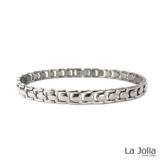 【La Jolla】梅杜莎 純鈦手鍊(銀色)