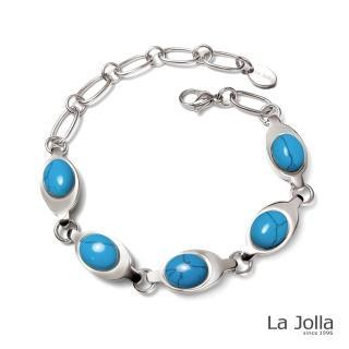 【La Jolla】泰姬瑪哈 純鈦鍺手鍊(土耳其石II)