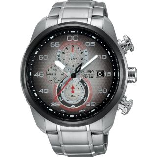 【ALBA】SignA 星際巡航計時腕錶-金屬色漸層/45mm(VD57-X066D AM3267X1)