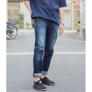 【Levis】511 修身窄款丹寧牛仔褲 / 印花縫補