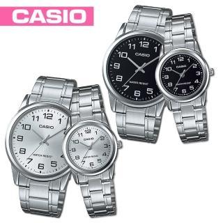 【CASIO 卡西歐】送禮首選-甜蜜浪漫情侶對錶(MTP-V001D+LTP-V001D)