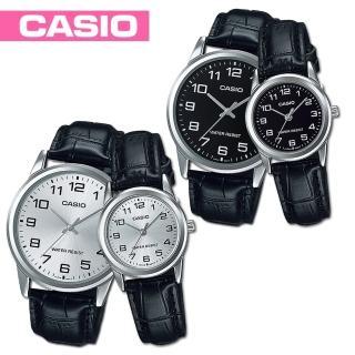【CASIO 卡西歐】送禮首選-甜蜜浪漫情侶對錶(MTP-V001L+LTP-V001L)