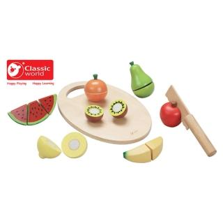 【Classicworld德國經典木玩客來喜】水果切切樂