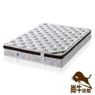 【尚牛床墊】3D透氣防蹣抗菌乳膠Q彈簧床墊-雙人特大6x7尺