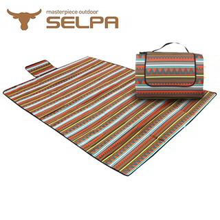 【韓國SELPA】防水雙面可用繽紛野餐墊(加大型)