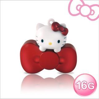 【Hello Kitty】16GB蝴蝶結系列造型隨身碟-速達(璀璨紅)