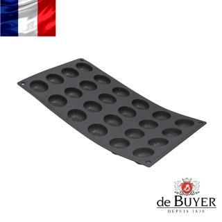 【法國de Buyer畢耶烘焙】『黑軟矽膠模系列』24格迷你Pomponnette蛋糕烤模