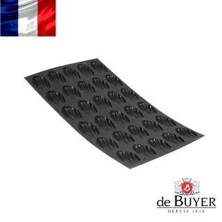 【法國de Buyer畢耶烘焙】『黑軟矽膠模系列』30格迷你瑪德蓮烤模