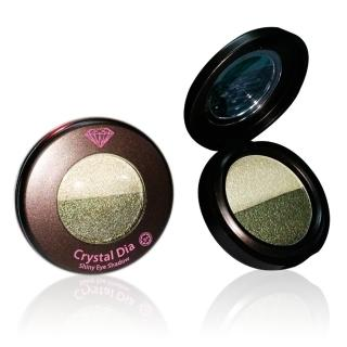 【韓國CrystalDia】四葉幸運草-目光圍繞雙色眼影(微光綠+墨綠#07)