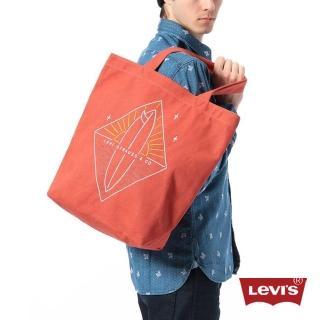 【Levis】夕陽橘帆布肩背包