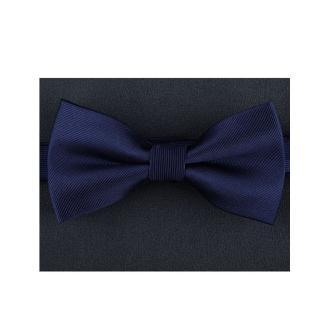 【拉福】斜紋質感新郎領結結婚領結糾糾(深藍斜紋)