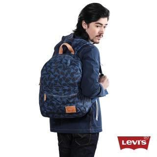 【Levis】男款藍色印花後背包
