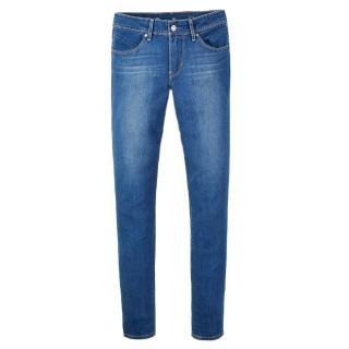 【Levis】REVEL中腰湛藍水洗窄管輕磅丹寧牛仔褲 九分褲