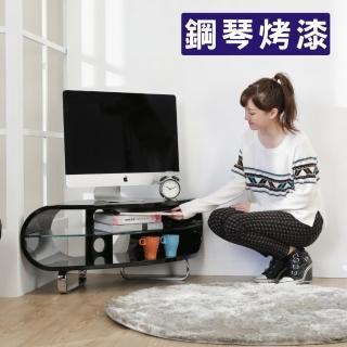 【BuyJM】扇形鋼琴烤漆轉角電視櫃/寬102公分