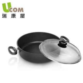 【UCOM德國AMT】德國黑魔法不沾鍋雙耳 含蓋(24cm)