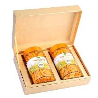 【Ecolife 綠生活 澳洲原裝進口】天然高濃縮蜂王乳膠囊(禮盒 1000mg/365顆 二罐)