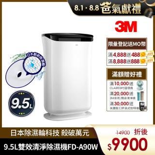 【3M】雙效空氣清淨除濕機(FD-A90W)
