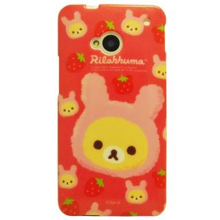 【Aztec】拉拉熊 HTC New One M7 矽膠軟手機殼(深粉草莓)