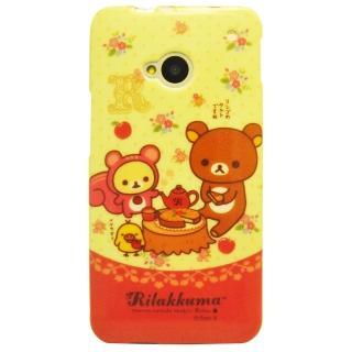 【Aztec】拉拉熊 HTC New One M7 矽膠軟手機殼(英式午茶)