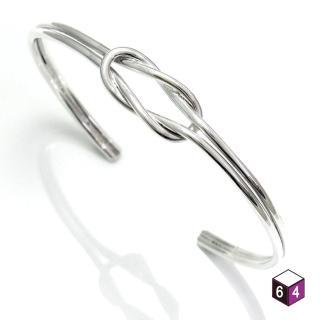 【ART64】C型手環 Love Link心繫情緣 平結手環 925純銀手環