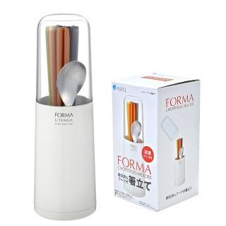 【日本ASVEL】時尚設計-筷匙瀝水筒(白色)