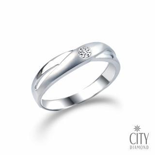 【City Diamond】『情定永恆』6分鑽石戒指(男)