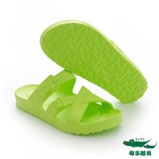 【母子鱷魚】MIT氣墊拖鞋-綠(MIT)