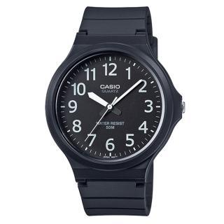 【CASIO】簡約指針休閒錶(MW-240-1B)
