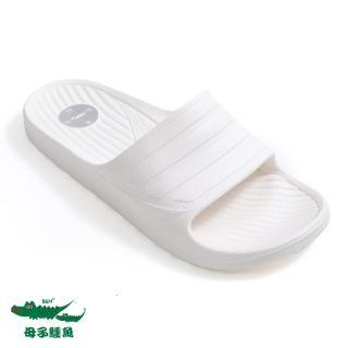 【母子鱷魚】繽紛軟Q拖鞋-白(MIT)   母子鱷魚