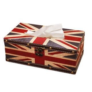 【PUSH! 居家生活用品】英倫風 紙巾盒 面紙盒 衛生紙抽取收納盒(I05)