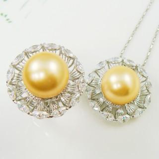 【蕾帝兒珠寶】星空金色貝珠套組
