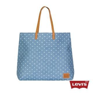 【Levis】淺藍印花肩背包